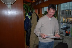 2009 'Spirit of the Shark Award': an overwhelmed Iain Lambert (right)